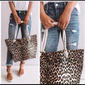 Handbags - Cheetah Leopard Print XL Tote or Beach Bag